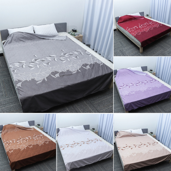 Only Bed Sheets Full Fitted Flat Sheet 160cmx230cm Cotton Single Double King Super King Size Camel White Gray Coffee Wine Red Purple Without Pillows And Quilts Wish