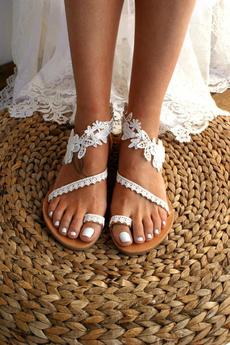 bohemia, beach shoes, strappysandal, Dentelle