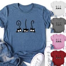 Summer, Plus Size, cute, printed shirts