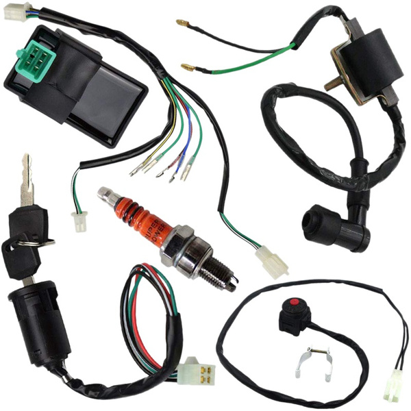 pit bike wiring harness wire harness wiring loom cdi ignition coil kill switch plug  wire harness wiring loom cdi ignition