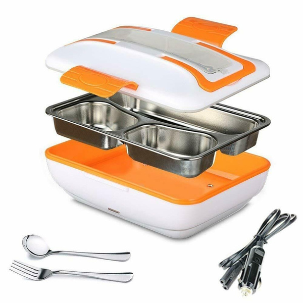 Portable 12V Car Electric Heating Lunch Box Bento Food Warmer Heater Container