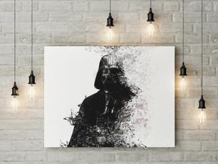 starwarsprint, Wall Art, homeprintableart, darthvaderprint