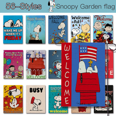 cute, Outdoor, welcomegardenflag, snoopy