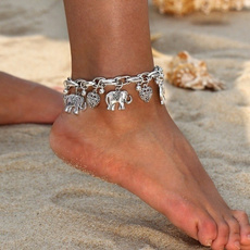 Heart, Outdoor, vintageanklet, beadanklet
