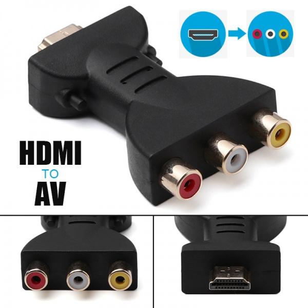 hdmitoav, Mini, converterbox, Converter