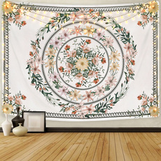 Plants, Flowers, mandalatapestry, bedspread