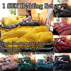 doubleduvetcover, velvet, Bedding, singleduvetcover