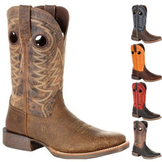 Fashion, Leather Boots, Hollow-out, Cowboy
