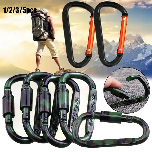 Travel Kit Carabiner Camp Mountaineering Hook Kattle Buckle Bottle Holder