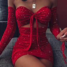 Mini, Club Dress, Fashion, off shoulder dress