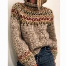 Turtle, knitwear, Plus Size, Winter