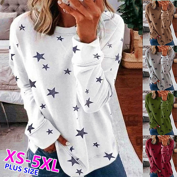 Plus Size, Long Sleeve, topsamptshirt, Autumn Shirts