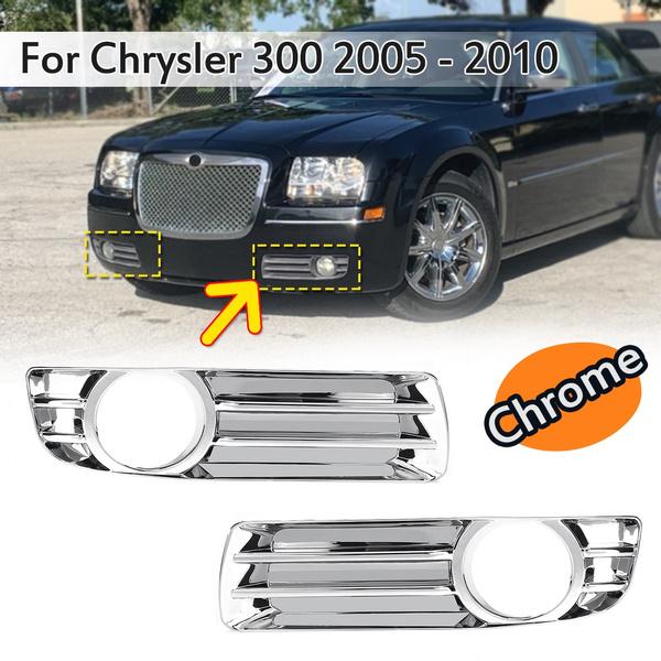 Chrome Front Bumper Fog Light Driving Lamp Trim Cover for Chrysler 300 2005-2010