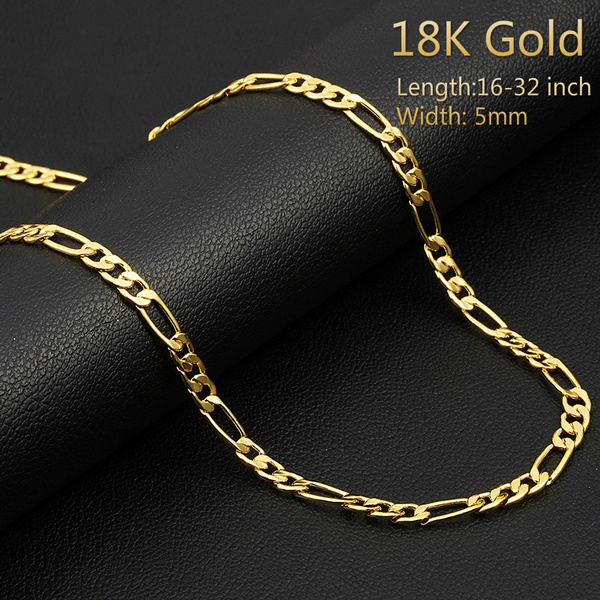 yellow gold, clavicle  chain, Chain Necklace, necklaces for men