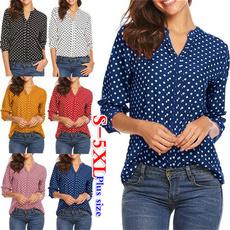 roupas femininas, Fashion, chiffon, wavepointshirt