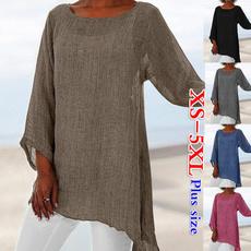 roupas femininas, Plus Size, Women Blouse, Long Sleeve