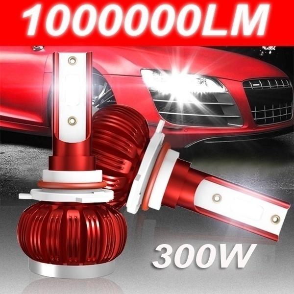 IP68 COB Chips Automotive Headlamp 2Pcs H4 LED Headlight Bulbs 9003 Beam 6000K