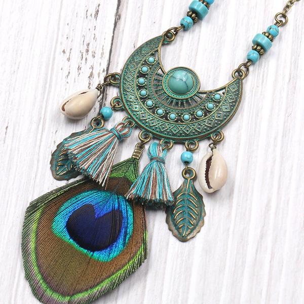 peacock, Tassels, Fashion, Jewelry