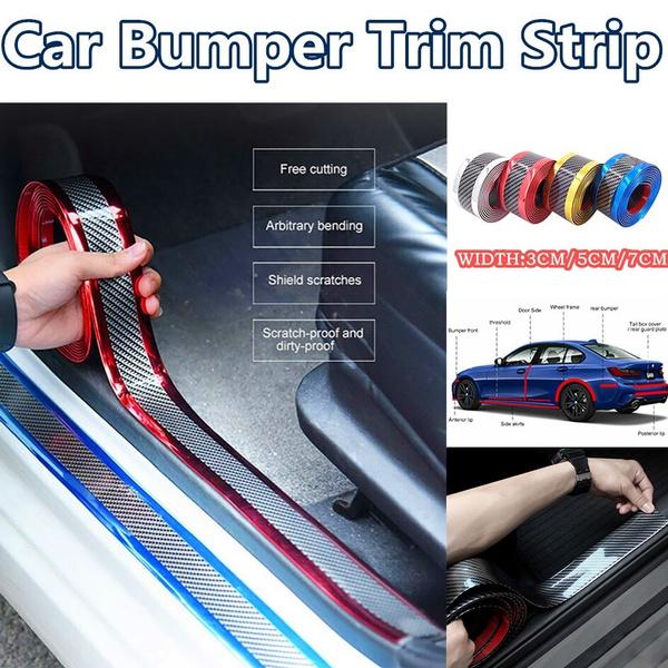 3CM*1M Car Carbon Fiber Rubber Edge Guard Strip Door Sill Bumper Protector
