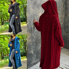 plussizesweaterforwomen, solidcolorsweatercoat, Knitting, Winter