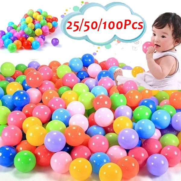 50//25pcs Quality Secure Baby Kid Pit Toy Swim Colorful Soft Plastic Ocean Ball