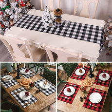 tablemat, plaid, burlap, Decoración de hogar
