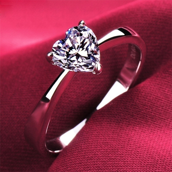 Couple Rings, DIAMOND, wedding ring, 925 silver rings
