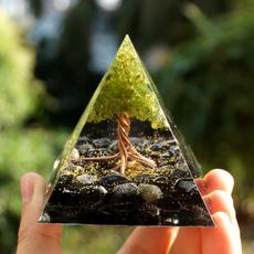 orgonepyramid, obsidianorgone, Tree, peridotorgonependulum