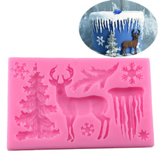 elk, Baking, Christmas, Silicone