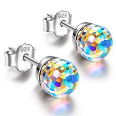 Sterling, Mini, Silver Earrings, Colorful