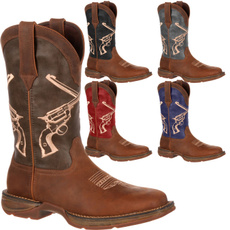 Moda, Leather Boots, Cowboy, leather