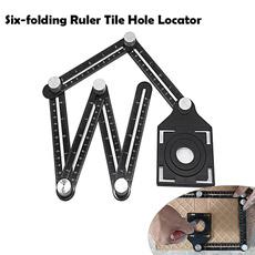 tileholelocator, aluminumalloysixfoldingruler, Aluminum, sixsidedruler
