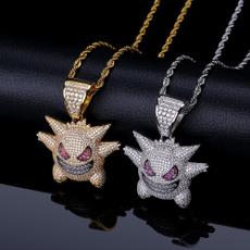 ghost, skullnecklace, hip hop jewelry, punk necklace