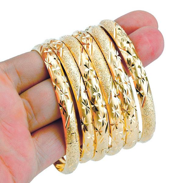 Women, luxurygoldbangle, Jewelry, bangle bracelets