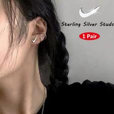 Steel, Women, Jewelry, silverstud