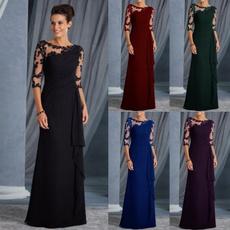 Fashion, Lace, chiffon, long dress