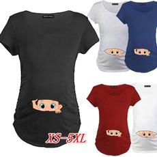 cute, Plus Size, topsamptshirt, short sleeves