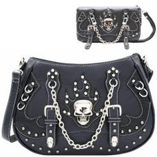 women's shoulder bags, Goth, Chain, purses