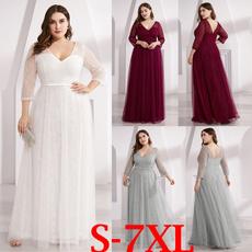 Bridesmaid, Plus Size, Winter, Sleeve