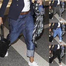 washblue, harem, Plus Size, pants