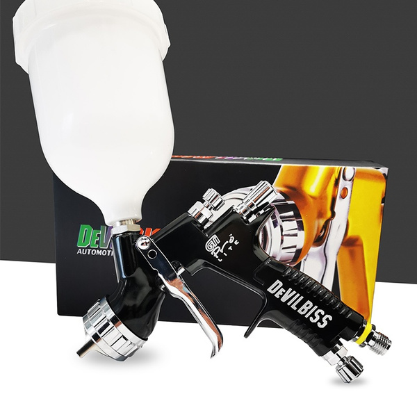 Devilbiss TE20 GTI Pro Lite Spray Gun Professional Paint Gun 1.3mm Nozzle Black
