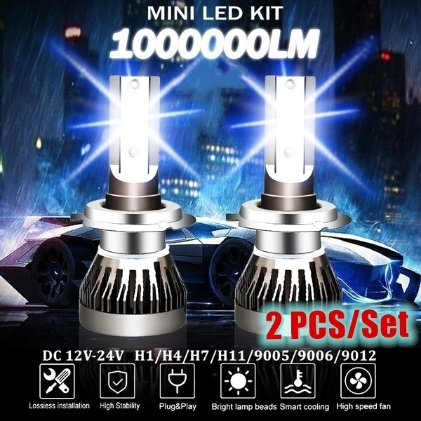 2PCS//SET H1 H3 H4 H7 H11 H13 COB LED 288W 28800LM 6500K Car Headlights Kit Bulbs