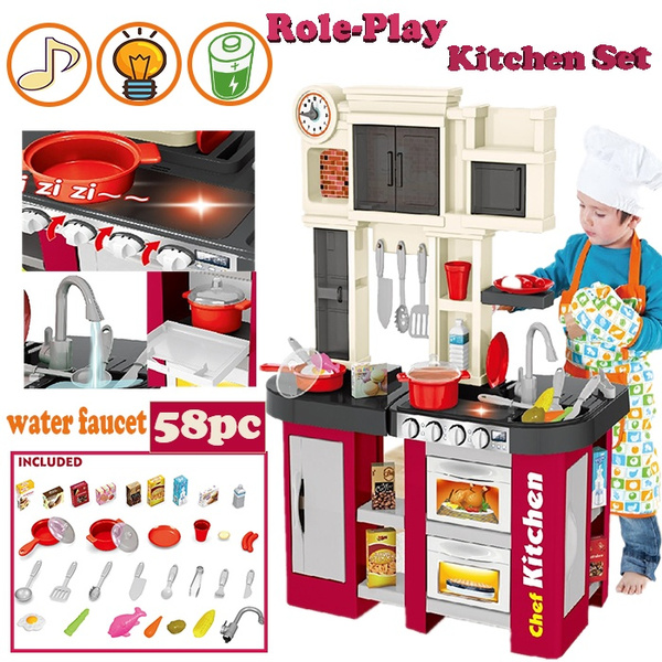 Kitchen Pretend Play Toy Set For Kids