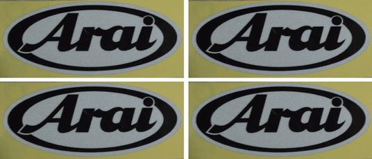 ARAI HELMET 18 Stickers Autocollants Adhésifs Auto Moto Voiture Sponsor Marques