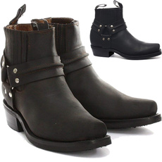 ankle boots, leather, Botas, shoes for men
