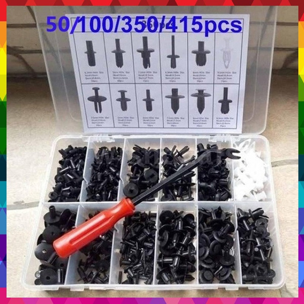 100pcs Fasteners Car Bumper Retainer Clips for Most Cars with Screwdriver