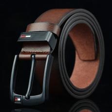 Leather belt, leather, Buckles, Men