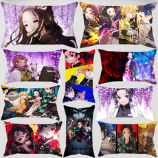 animepillowcover, Home Decor, decorativepillowcover, Demon