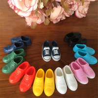 5Pairs 12cm  Doll Shoes Accessories Kelly Doll Confused Doll Shoes Kids Gift`Toy