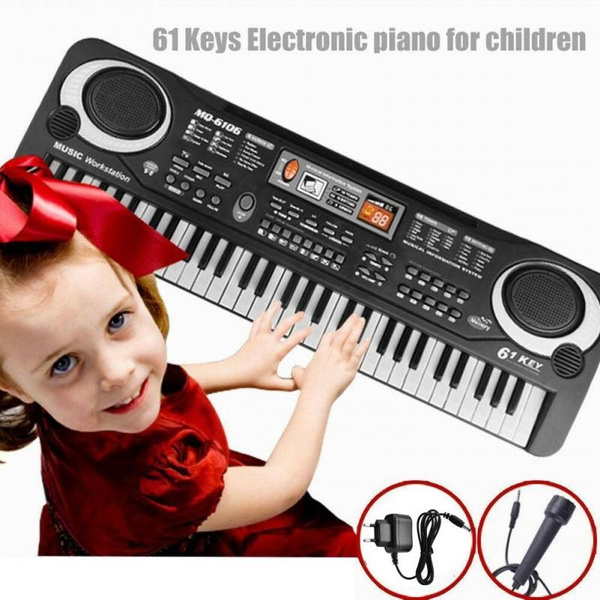 Digital Kids Electric Piano 61 Key Music Electronic Keyboard Toy with Microphone